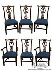 Ethan Allen Georgian Court Set of 6 Solid Cherry Chippendale Dining Chairs