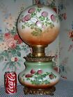 c1900 Squatty Base Consolidated GWTW Parlor Banquet Lamp 3 Leaf CLOVER