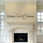 Family Wall Decal Inspirational Home Sweet Home Quote Vinyl Art Removable Decor