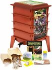 Terracotta Worm Factory 360 Deluxe 4 Tray Worm Composter by Natures Footprint