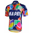Santini Mapei Short Sleeve Cyling Jersey Full Zip Euro Size 3XL New