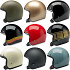 Biltwell Bonanza Open Face Motorcycle Helmet Choose Size  Color