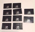 LOT of 10 Pirate Custom Black Minifig Base Stands for LEGO minifigures