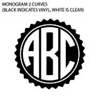 Best Custom Monogram Personalized Name Initials Vinyl Car Bottle Decal Sticker