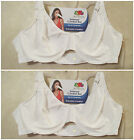2 NWT FRUIT OF THE LOOM 38C White Extreme Comfort Underwire Bra