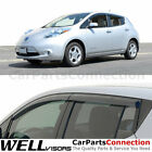 WellVisors Window Visors 2011 2017 For Nissan Leaf Side Deflectors
