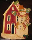 Susan Winget Snowman with House Plate- Certified International