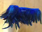 Coque feather fringe royal blue irridescent color 10 yards trim