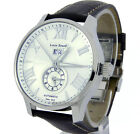 LOUIS ERARD MEN WATCH SWISS DUAL-TIME AUTOMATIC 44mm SAPPHIRE LEATHER 82222AA01