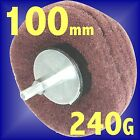 Silverline 100mm Dome Sanding Mop 240 Grit Fine Nylon Fibre drill flap wheel