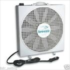 Box Fan Cool Portable Light Weight High Air Volume Compact Blow Home Electric