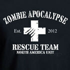 ZOMBIE APOCALYPSE RESCUE TEAM 2012 funny walking dead horror Halloween T shirt