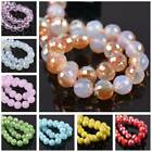 Round Faceted Crystal Glass 96Facets Loose Spacer Beads 8mm 10mm 12mm Lot Colors