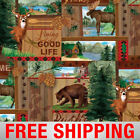 Fleece Fabric Hunting Wilderness Nature Style 3161 60 Wide Free Shipping