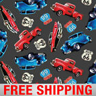 Fleece Fabric Ford Chevrolet Classic Car Route 66 0014 60 Wide Free Shipping