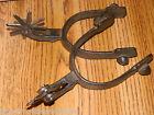 SET 2 PAIR OL WESTERN STYLE COWBOY 8 POINT BOOT SPURS RUSTIC DECOR NEW