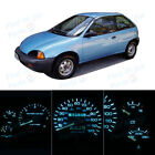 LED Package Instrument Panel Gauge Bright Ice Blue Bulb for 1995 1997 Geo Metro