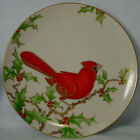 FITZ & FLOYD china CHRISTMAS HOLLY CARDINAL pattern SALAD PLATE 7-5/8