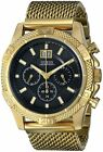U0205G1 -GUESS Watch Men's Chrono Gold Tone Stainless Steel Mesh Watch RRP$235