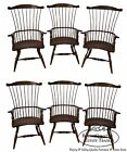 Bros Set of 6 High Back Windsor Gentlemans Arm Chairs