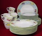 MIKASA china FRUIT RAPTURE Y4001 pattern 40-pc SET SERVICE for EIGHT (8)