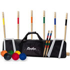 Kids Croquet Game Set Outdoor Play Team Sport Back Yard Garden Lawn Portable Bag