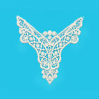 7 X 5.5 Inches Burgundy Blue Turquoise Venice Lace Bodice Motif Applique Patch
