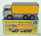 MATCHBOX SERIES A LESNEY 47 DAF TIPPER CONTAINER TRUCK ORIGINAL BOX USED