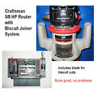 Craftsman Router  Biscuit Joiner Attachment w Blade