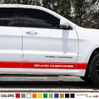 Sticker Decal side Stripe for Jeep Grand Cherokee SRT8 V8 bar lip chrome steps