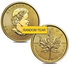 Lot of 2 - 1/2 oz Canadian Gold Maple Leaf Coin (Random Year)
