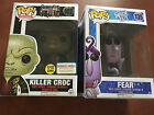 Funko Pop Suicide Squad Killer Croc Glow in the Dark Exclusive & Inside Out Fear