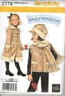 Simplicity Daisy Kingdom Coat Vest Uncut Sewing Pattern 2778 Girls A 3 4 5 6 7 8