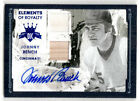 2016 Diamond Kings JOHNNY BENCH Elements of Royalty BLUE Auto JERSEY Bat 5 Reds
