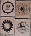 SUO STAMPIN UP SO MANY SCALLOPS WOOD SET OF 4 VERY NICE STAMPS MTD RET
