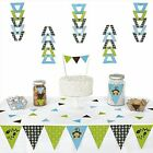 Monkey Boy Triangle Party Decoration Kit 72 Pieces