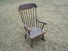 Antique Oak and Maple Boston Rocker Style Rocking Chair