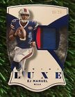 EJ Manuel Signs Exclusive Autographed Memorabilia Deal with Panini Authentic 17
