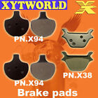 FRONT REAR Brake Pads for Harley Davidson FXRS-CONV Low Rider Convert 1989-1993