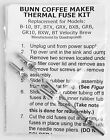 Repair Your Bunn Coffee Maker Water not Heating New Thermal Fuse Kit Part Fix