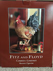 Fitz and Floyd Country Gourmet Rooster Figurine in box!