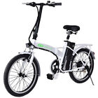 20 250W 36V Folding Electric Mountain Bicycle EBike Speed Lithium Battery White