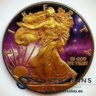 Silver American Eagle Coin Ruthenium plated Colorized and Gold Gilded Universe