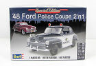 1948 Ford Police Coupe Revell 85-4318 1/25 New Car Plastic Model Kit