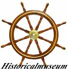 NAUTICAL WOODEN SHIP STEERING WHEEL PIRATE DECOR With Brass Ring DECOR DT482CP
