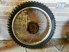 1982 Yamaha YZ 490 J  front wheel with axle tire rim  yz250 yz465
