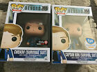 Funko Pop Survival Suit Chekov & Captain Kirk Fye & GameStop Exclusive Star Trek