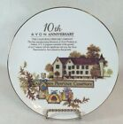 Avon The California Perfume Company, 10th Anniversary Plate, Trimmed in 22K Gold