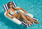 Swimline SunChaser Padded Luxury Pontoon Style Swimming Pool Lounge Chair Float