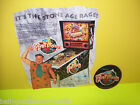 ORIGINAL PINBALL MACHINE NOS FLYER + PROMO PLASTIC FOR WILLIAMS THE FLINTSTONES